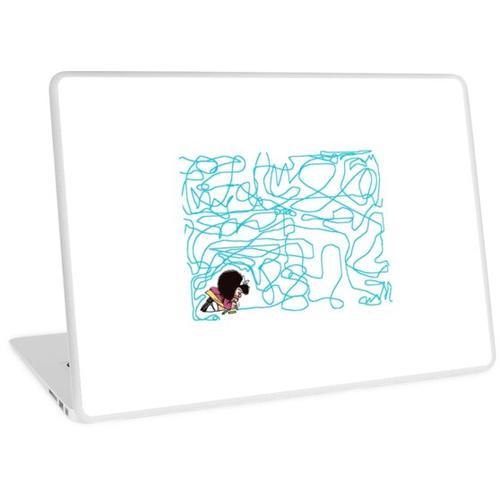 Mafalda zeichnet Buntstift Laptop Skin