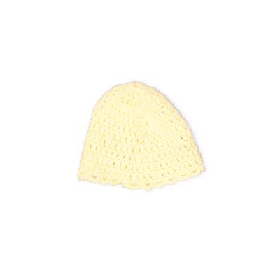 Beanie Hat: Yellow Solid Accesso...