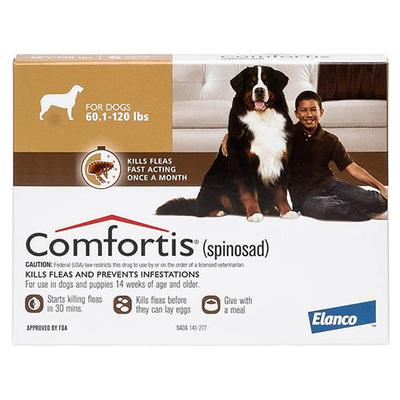 Comfortis Brown For Dogs 50 - 80lbs 6 Doses