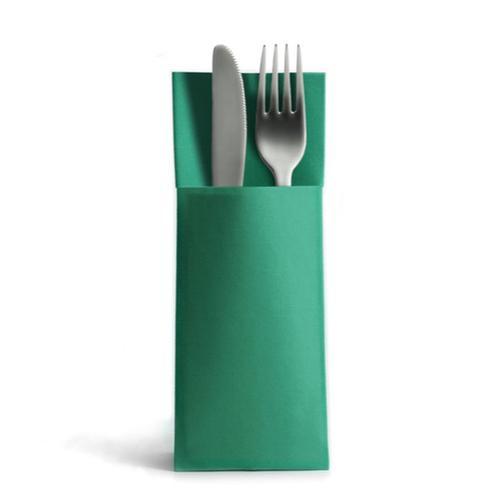 CHIC® Airlaid 1250 Besteckservietten Bestecktaschen grün 32x40cm, Stoffähnlich, hochwertige Einwegserviette
