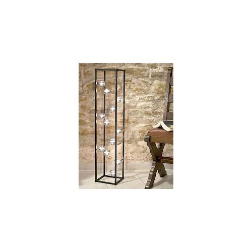 Lichtsäule Teelichthalter 100 cm Teelicht Ständer für 12 Teelichter 93004 Kerzen