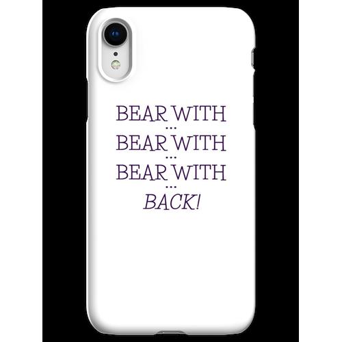 tragen mit ... tragen mit ... iPhone XR Handyhülle