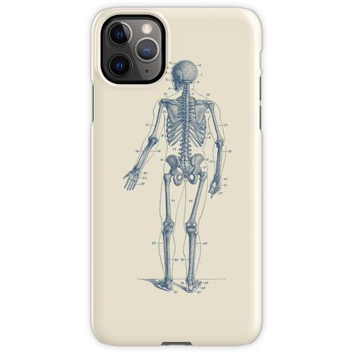 Rückwärtsgerichtetes Skelett-Diagramm iPhone 11 Pro Max Handyhülle
