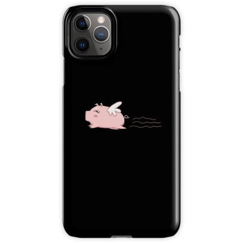 Fliegen-Schwein-T-Shirt Schwein-Hemd-Schwein-T-Shirt Lustiges Hemd iPhone 11 Pro Max Handyhülle