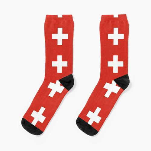 Schweizer Flagge Socken
