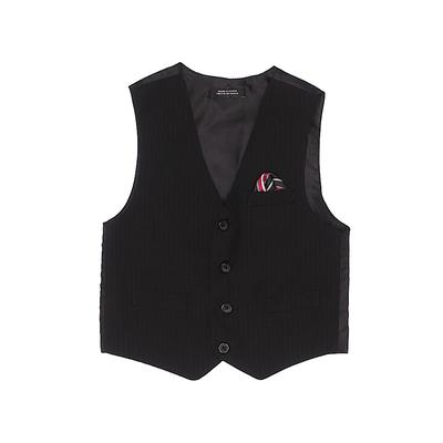 Tuxedo Vest: Black Solid Jackets...