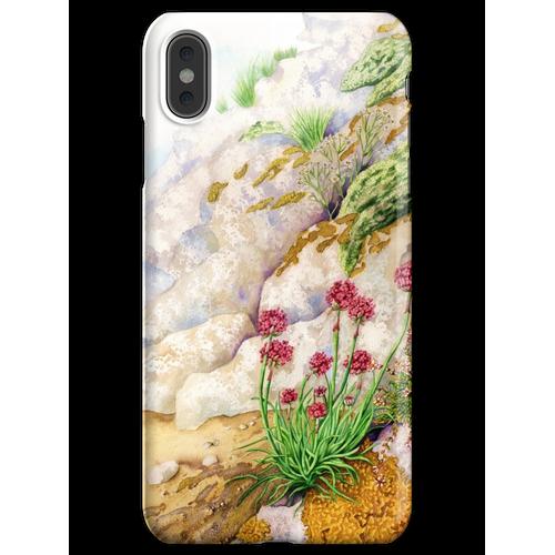 Sea Pink (Mischtechnik auf Papier) iPhone XS Max Handyhülle