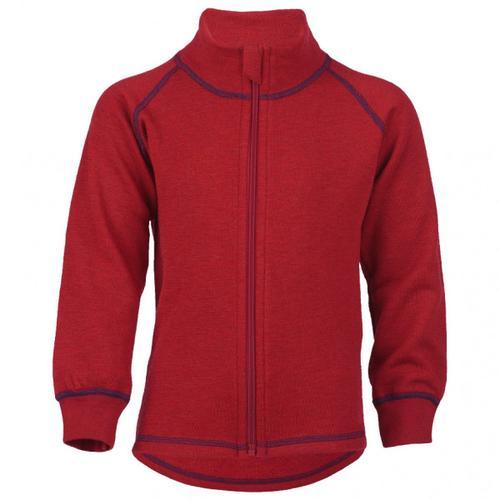 Engel - Kinder-Zip-Jacke Mit Kinnschutz - Wolljacke Gr 104 rot