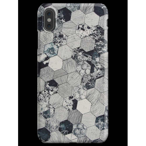 Hexagon Fliesen iPhone XS Max Handyhülle