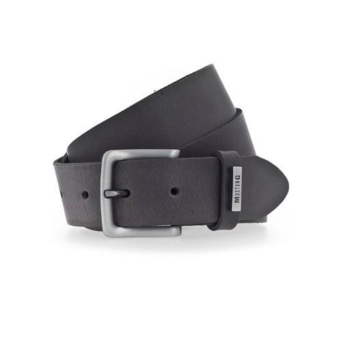 MUSTANG Ledergürtel, Robustes Rindsleder mit satinierter Schnalle grau Damen Ledergürtel Gürtel Accessoires