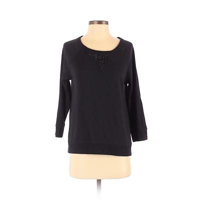 Chaus Sport Sweatshirt: Black Pr...