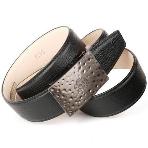 Anthoni Crown Ledergürtel, mit Automatik-Schließe, bombiert schwarz Damen Ledergürtel Gürtel Accessoires