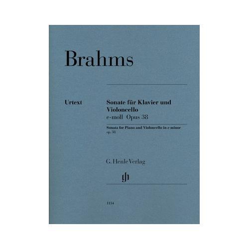 Henle Verlag Brahms Sonate e-moll Cello