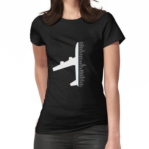 Phonetic Alphabet Pilot Air Traffic Controller Frauen T-Shirt