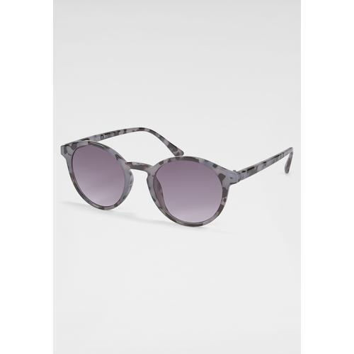 PRIMETTA Eyewear Sonnenbrille, mit leicht getönten Gläsern grau Damen Runde Sonnenbrille Sonnenbrillen Accessoires