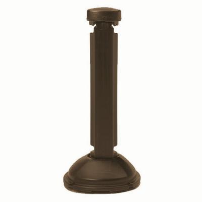 Grosfillex US960423 Interlocking Fence Post & Base - Resin, Brown