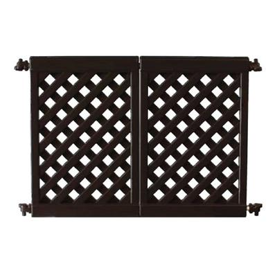 Grosfillex US962117 Two Section Interlocking Fence Panel - Resin, Black