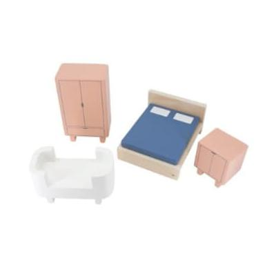 Sebra - Bed Room Elements for Doll's House - U | Plywood