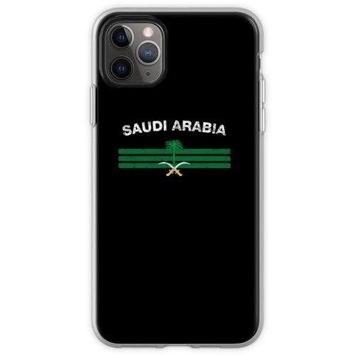 Saudisches oder saudiarabisches Flaggen-Hemd - Saudi-oder Saudi Flexible Hülle für iPhone 11 Pro Max