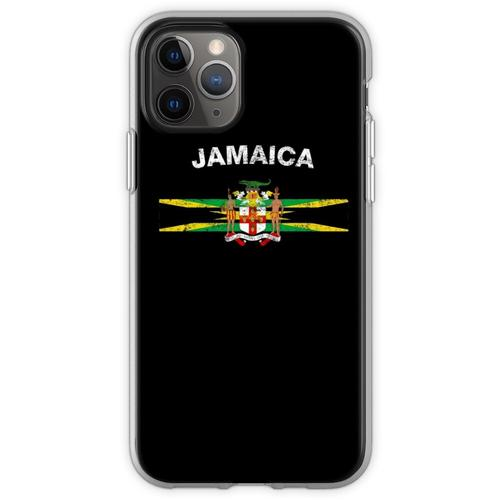 Jamaikanisches Flaggen-Hemd - jamaikanisches Emblem u. Jamaika-Flag Flexible Hülle für iPhone 11 Pro