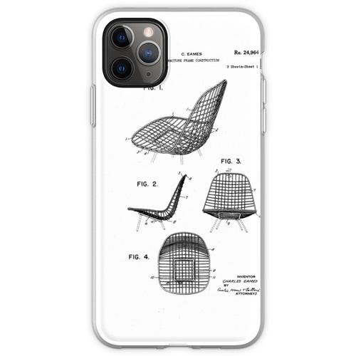 Eames - Draht Stuhl - Patent Artwork Flexible Hülle für iPhone 11 Pro Max