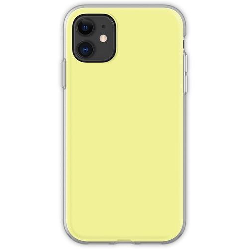 Pastellgelb / Pastellgelb Einfarbig Flexible Hülle für iPhone 11