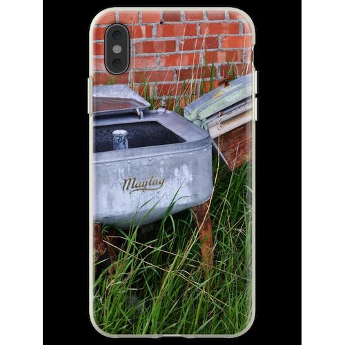 Antique Wringer Waschmaschine und Waschmaschine Flexible Hülle für iPhone XS Max
