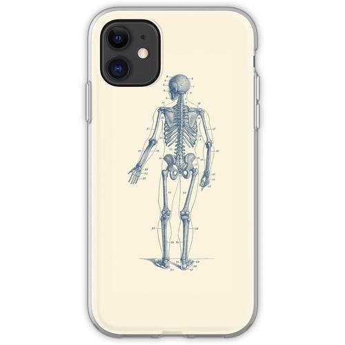 Rückwärtsgerichtetes Skelett-Diagramm Flexible Hülle für iPhone 11