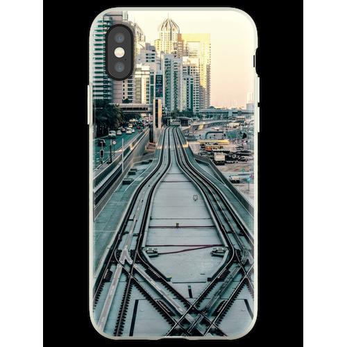 Eisenbahntag Flexible Hülle für iPhone XS