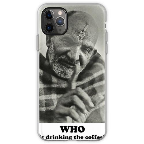 Neem Karoli Baba Papaji Kaffee Flexible Hülle für iPhone 11 Pro Max
