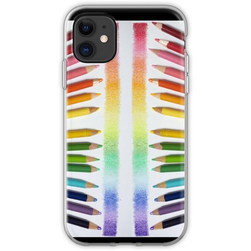 Buntstift Regenbogen Flexible Hülle für iPhone 11