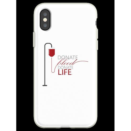 Spenden Blut spenden Leben - Weltblutspendetag Organspender Blutspende Flexible Hülle für iPhone XS