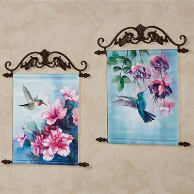 Hummingbird Hanging Canvas Wall Art Multi Bright Set of Two, Set of Two, Multi Bright