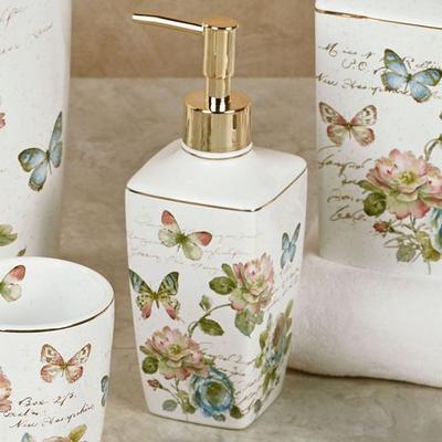 Butterfly Garden Lotion Soap Dispenser Ivory , Ivory