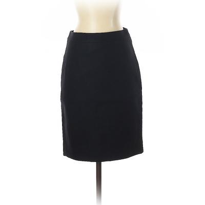 J.Crew Wool Skirt: Black Solid Bottoms – Size 0 Petite