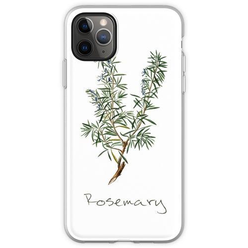 Rosmarin-Kraut, Rosmarin-Pflanze, Rosmarin-Druck, Rosmarin-Kuns Flexible Hülle für iPhone 11 Pro Max