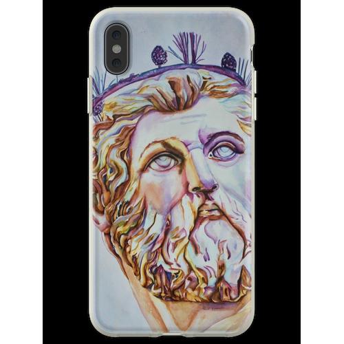 Neptun - Vom Neptunbrunnen, Florenz, Italien Flexible Hülle für iPhone XS Max