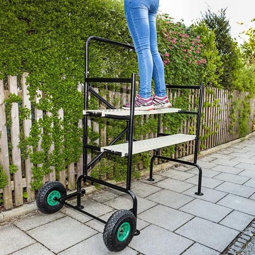 Mobiles Gerüst mit luftgefüllten Reifen, Tragkraft ca. 150 kg
