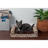 FurHaven Southwest Kilim Cat & Dog Bed, Desert Brown, Small