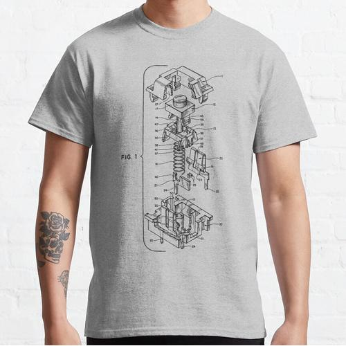 Mechanical Keyboard Key Patent Classic T-Shirt