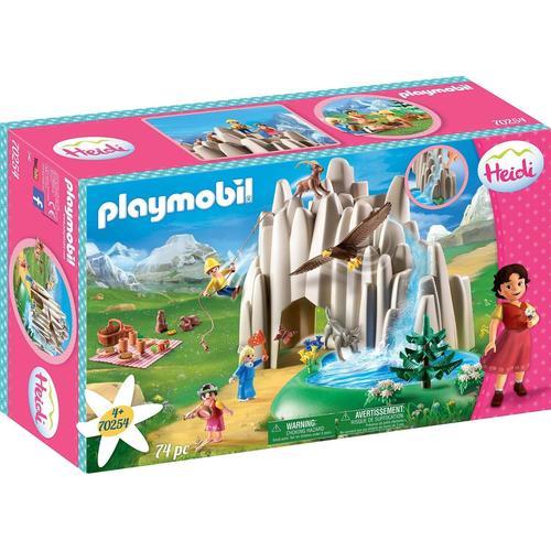 Playmobil Konstruktions-Spielset Am Kristallsee mit Heidi, Peter und Clara (70254), (74 St.), Made in Germany bunt Kinder Ab 3-5 Jahren Altersempfehlung