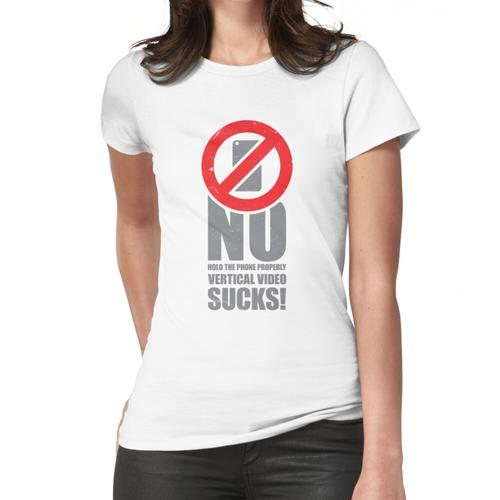 Kein vertikales Video No.2 Frauen T-Shirt