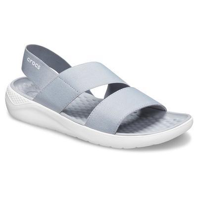 Crocs Light Grey / White Women's Literide™ Stretch Sandal Shoes