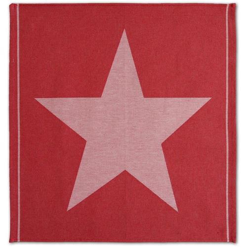 DDDDD Geschirrtuch Star, (Set) rot Geschirrtücher Küchenhelfer Haushaltswaren