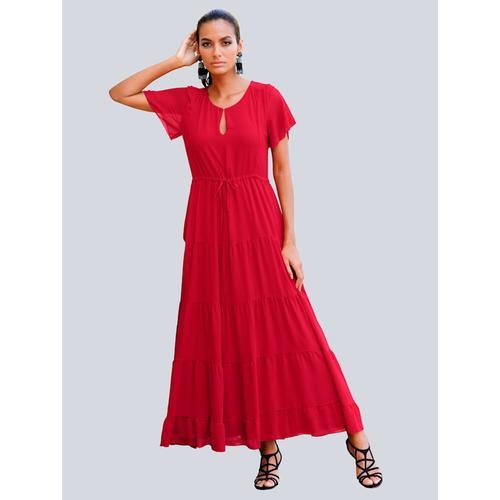 Alba Moda, Strandkleid im Stufenlook, rot