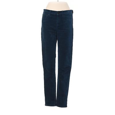 J.Crew Factory Store Velour Pants - Mid/Reg Rise: Teal Activewear - Size 27