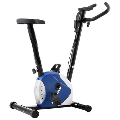 vidaXL Heimtrainer mit Riemenantrieb Blau