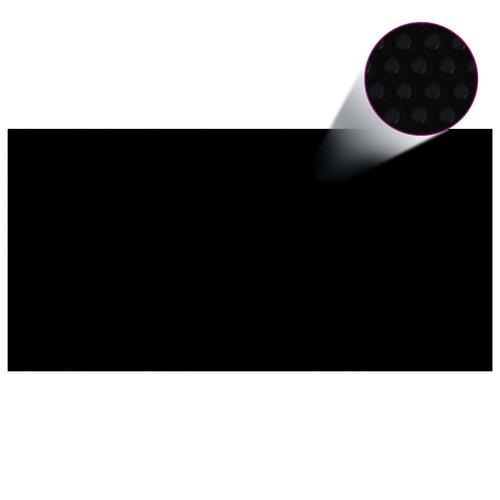 vidaXL Poolabdeckung Schwarz 600×300 cm PE