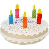 Frisco Plush Squeaking Birthday Cake Dog Toy, Large