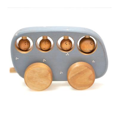 FriendlyToys - Wooden Bus Toy